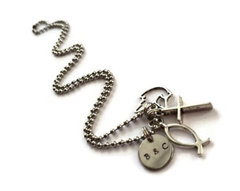Personalized Faith Charm Necklace