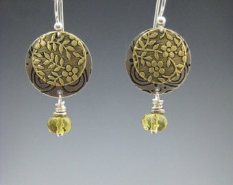 Small Mixed Metal Earrings, Gold and Silver Earrings, Lightweight earrings RP0344ER