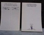 Vintage Working Woman Notepads Scratch Paper To Do List
