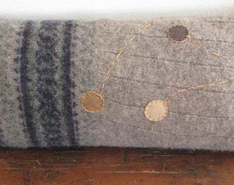 Recycled Wool Sweater Pillow, beige, blue, green, purple, stuffed lumbar pillow,