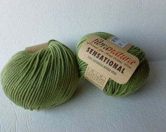 Yarn Sale Leek Green 40831 Sensational by Fibranatura