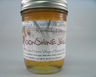 MoonShine Jelly Homemade jelly handmade, fruit preserves handcrafted fruit spread, holiday gift, food gift, homemade jelly, gourmet jelly