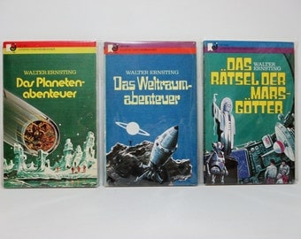 The Adventure Trilogy by Walter Ernsting: Three 1970's Pulp Science Fiction Novels in the Original German -Das Planetenabenteuer