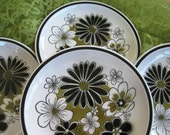 Rare Vintage Mikasa Leilani CeraStone Salad plates, Very good, Set of 4