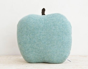 Apple shaped cushion/soft toy - medium size color green