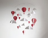 PINK Large Hot Air Balloon Paper Baby Mobile