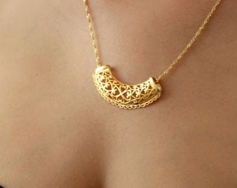Gold necklace, lace necklace, gold filled chain, gold filled necklace, gold necklace, delicated necklace