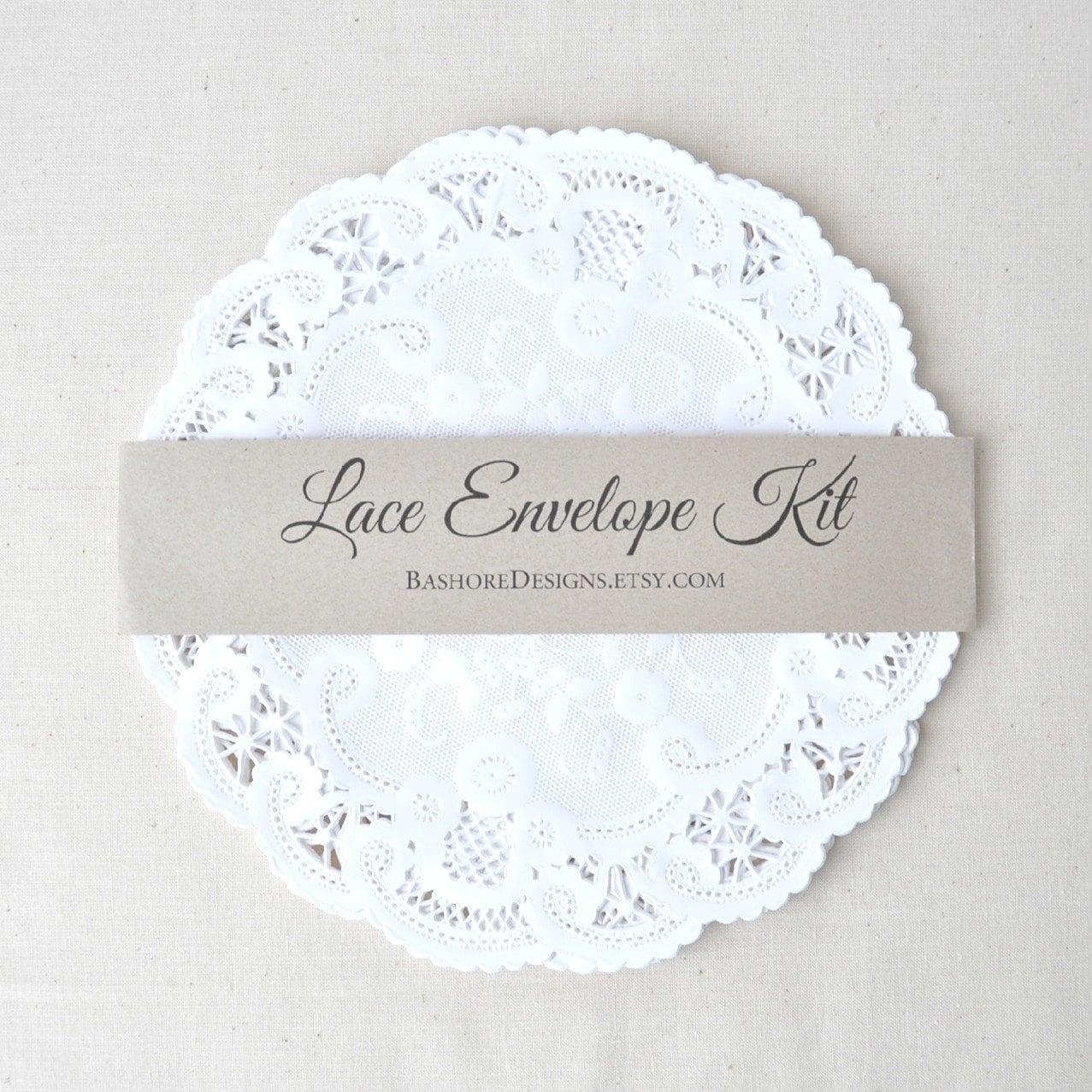 DIY Lace Envelope Kit Wedding Invitation By HarvestPaperCo
