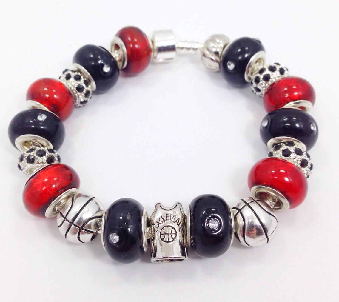 Basketball Charm Bracelet: Basketball European Style Charm Bracelet