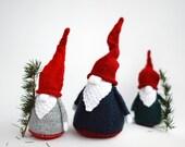 3 Gnomes - pdf knitting patterns. Christmas Ornament. New Year Ornament.
