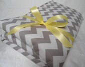"""Padded Baby Play Mat Pad Floor Blanket Chevron Girl Boy Yellow Tummy Time Newborn Gift Baby Shower Nap Personalize 35"""" x 35"""" or 40"""" x 35"""""""