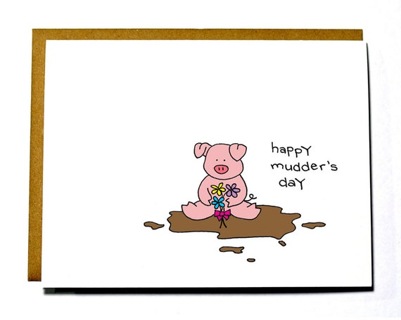 Funny Mother's Day eco-friendly card, mudder's day