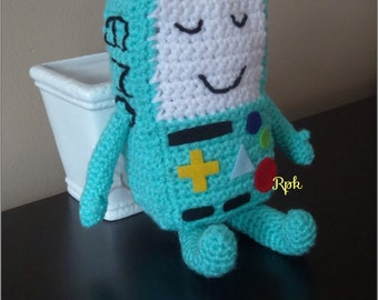 Bmo (Beemo) Adventure Time Inspired Plush Crochet available in pink too