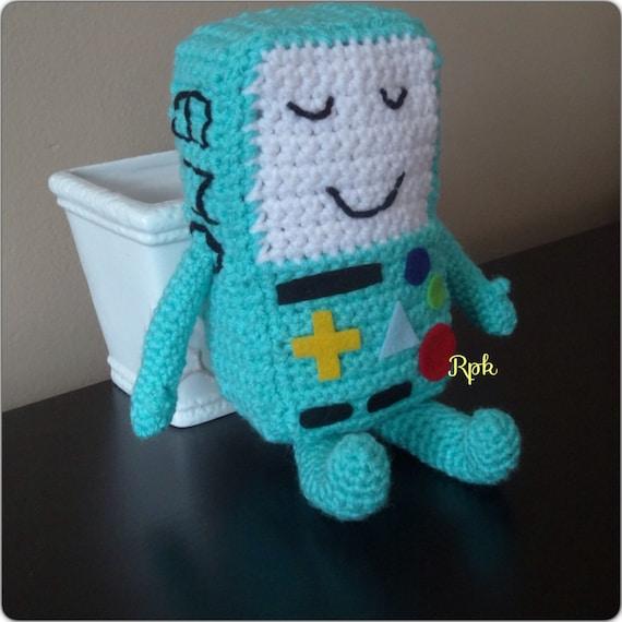 Amigurumi Beemo : Bmo Beemo Adventure Time Inspired Plush Crochet available in