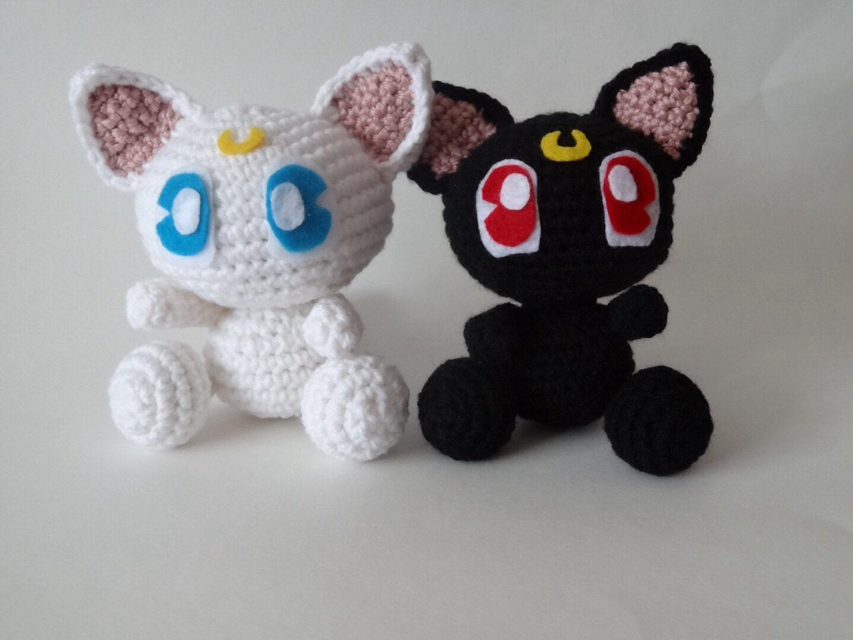 Amigurumi sailor moon inspired crochet Little Luna or Little