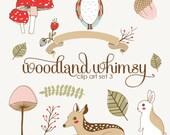Woodland Whimsy Clip Art Set 3