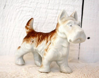 Vintage Scottie Terrier Porcelain Dog Figurine from Japan