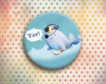 Yar-whal Adorable Button