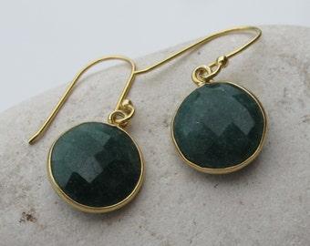 Green Emerald Earring- Emerald Earring- Silver Emerald Earring- Green Stone Earring- May Birthstone Earring- Gemstone Earring- Stone Earring