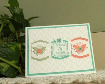 Mr. and Mrs. Wedding Card, Congratulations, Wedding Card, Newlyweds, Congratulations, Bride and Groom