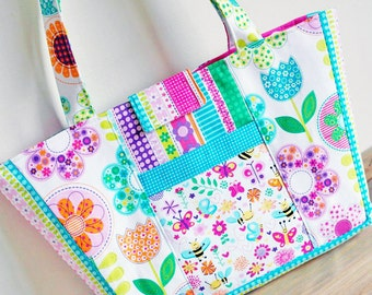 Girl's Bag Pattern PN807 Busy Bees Childs Tote Sewing Tutorial