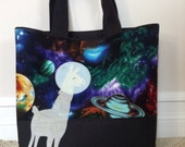 Llama in Space Tote Bag