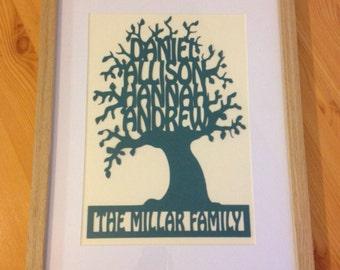 Unique Family Tree Gift (Framed)