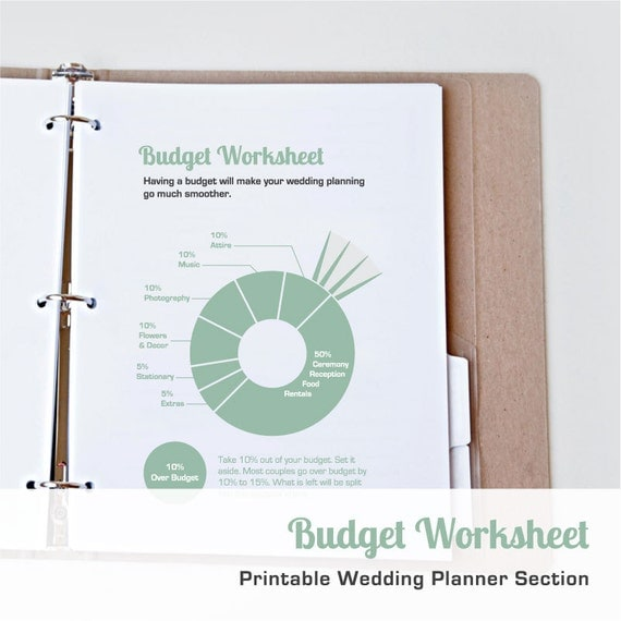 Printable Wedding Budget Worksheet | Printable Wedding Planner