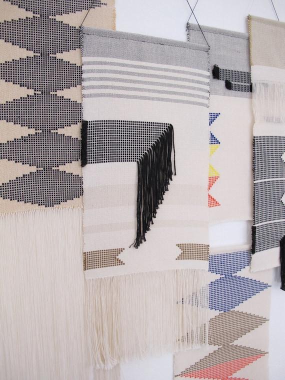 tenture murale tiss e main tapisserie tissage art textile. Black Bedroom Furniture Sets. Home Design Ideas