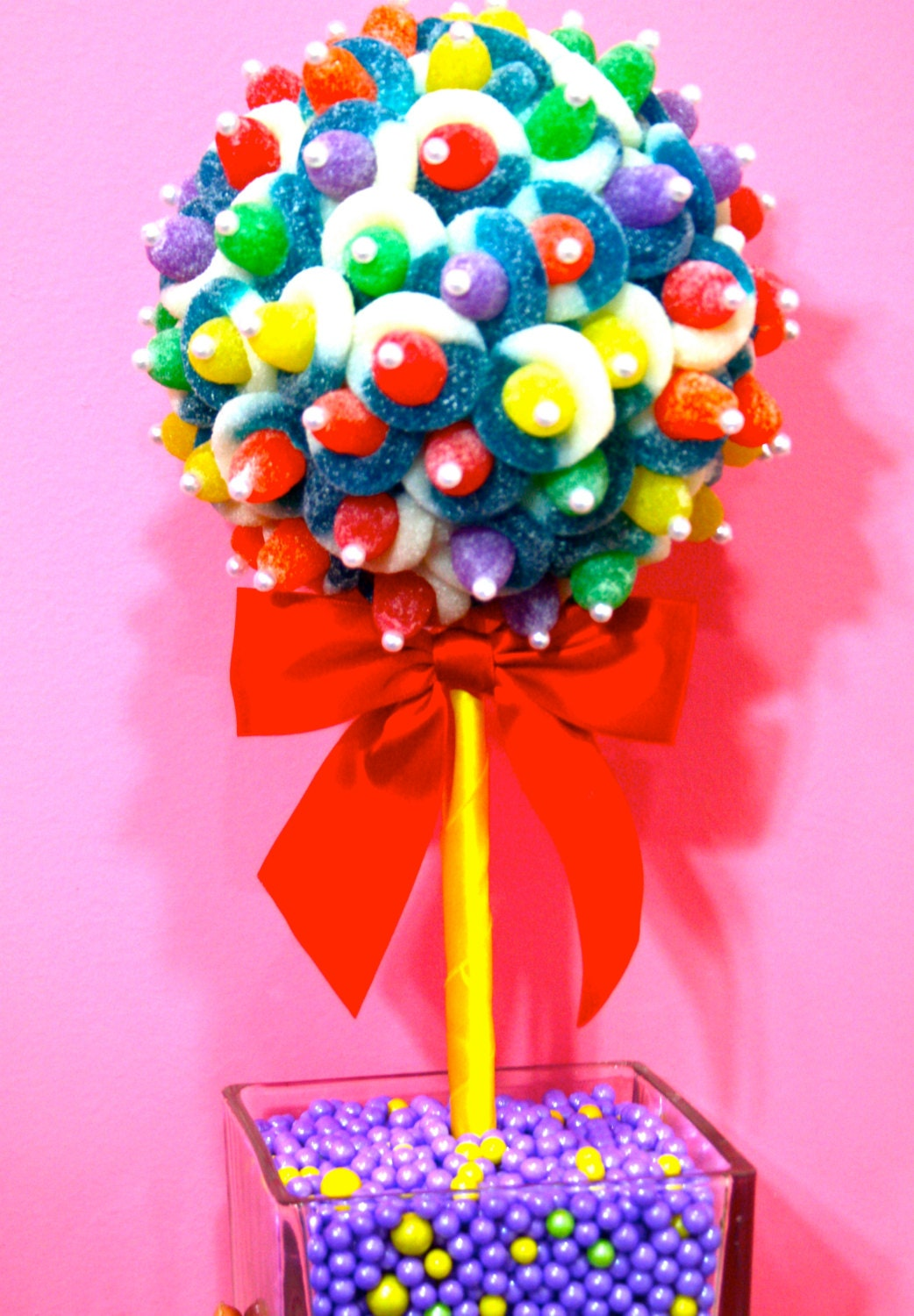 Rainbow Candy Cake: Rainbow Candy Land Centerpiece Topiary Tree Candy Buffet