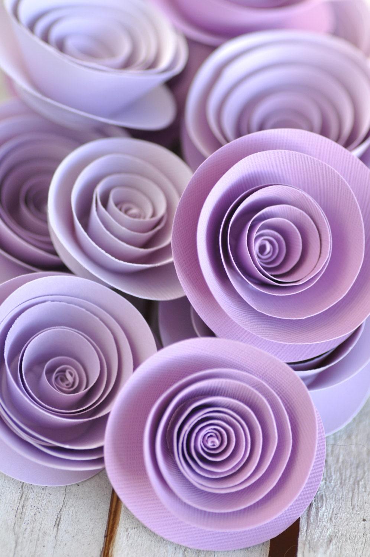 Paper Flowers Lavender Paper Flowers Wedding Table Decorations