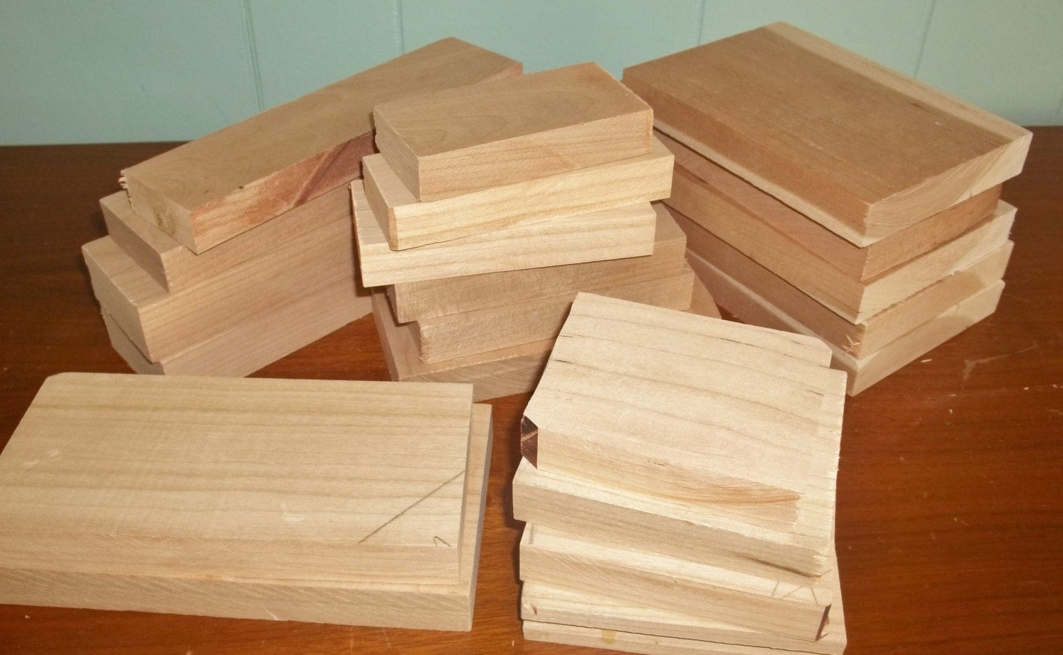 Lot of cherry wood carving blocks woodworking