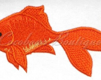 Goldfish machine embroidery