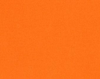 Kona Orange by Robert Kaufman Solid Orange 1 yard