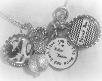 Blessed Mom / Gma / Aunt/ etc... Charm Photo Personalized Necklace