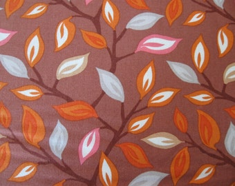 Serenade Quilting Cotton Foliage in Cocoa by Kare Spain for Moda 1 yard