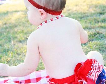 ON SALE 3 Pcs. Patriotic 4th of July Ruffle Baby Bloomers,Diaper cover,Bloomer Newborn Toddlers Photo Props, Ready to Ship