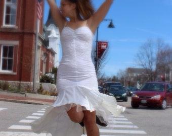 Vtg 80s Fredericks of Hollywood mermaid wedding prom lace dress