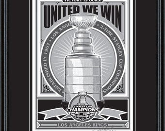 2014 Stanley Cup Champions - Los Angeles Kings framed screen print