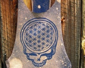 Made to order Cosmic Stealie Flower of life sloutchy open sided tank