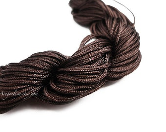 1mm Nylon Cord Brown Nylon Square Knot Chinese Knotting Beading Cord