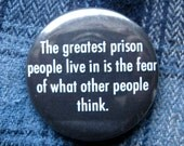 Prison pinback button psycholgist badge ego magnet thoughts patch prisoner pins jail lapel pin self motivation quote gift for boyfriend