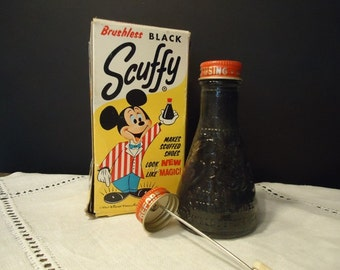Scuffy Shoe Polish Vintage Mickey Mouse Advertising