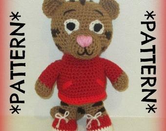 PATTERN ONLY - Crochet Daniel Tiger