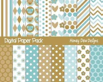 Instant Download - Digital Paper Pack 301 Patterned Paper