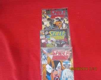 SPIDER WOMAN MARVEL # 1, 3, 4 Bagged Never Read or Opened Mint  Box 2