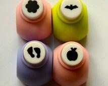 A Set of a Mini Paper Punch (Pick 1): Plum, Bat, Feet , Or Orange