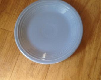 """Fiestaware 7"""" salad plate in retired periwinkle blue"""