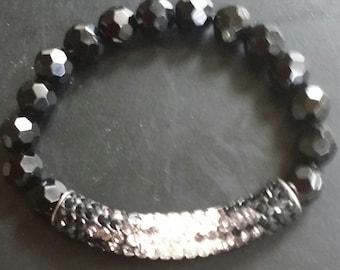 Rhinestone Pave Tube Bracelet