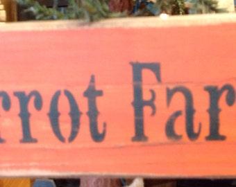 Carrot Farm Sign